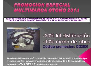 20% EN EL KIT DE DISTRIBUCION